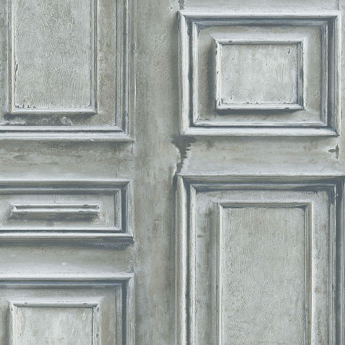 LL36214 Patton Wallcoverings Norwall Illusions 2 Rustic Wood Panel Wallpaper Charcoal