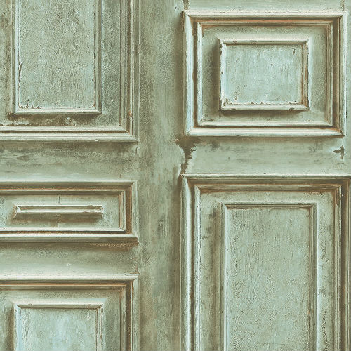 LL36215 Patton Wallcoverings Norwall Illusions 2 Rustic Wood Panel Wallpaper Teal