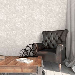 Patton Wallcoverings Norwall Illusions 2 Marble Wallpaper Room Setting