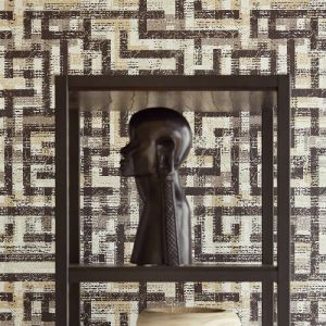 Brewster Wallcovering Eijffinger Siroc Geometric Tebessa Wallpaper Room Setting