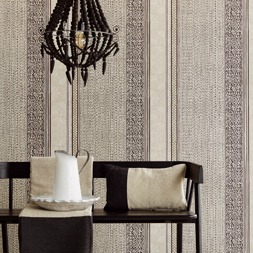 376023 Brewster Wallcoverings Eijffinger Siroc Stripe Setif Wallpaper Regular Room Setting