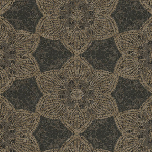 376050 Brewster Wallcovering Eijffinger Siroc Medallion Seychelles Wallpaper Brown