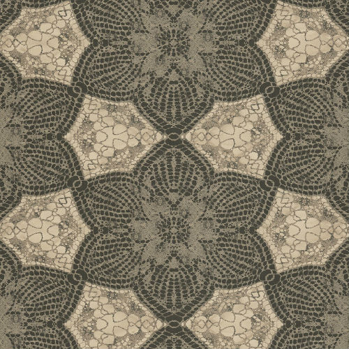 376057 Brewster Wallcovering Eijffinger Siroc Medallion Seychelles Wallpaper Chocolate