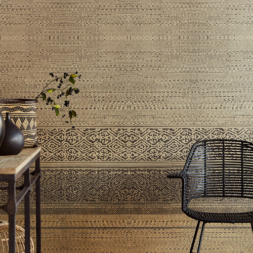 Brewster Wallcoverings Eijffinger Siroc Tapestry Mural Closeup Burnt Umber