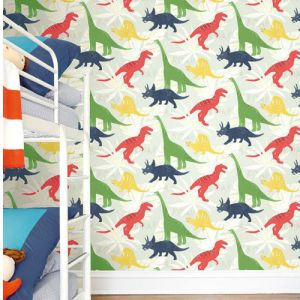 Seabrook Wallcoverings Playdate Adventure Pack Party Wallpaper Room Setting