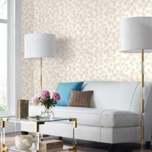York Wallcoverings Ashford Whites Posey Wallpaper Room Setting