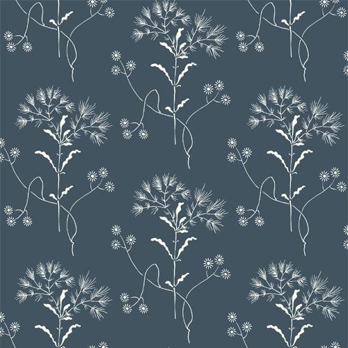 ME1518 York Wallcoverings Joanna Gaines Magnolia Home 2 Wildflower Wallpaper Blue