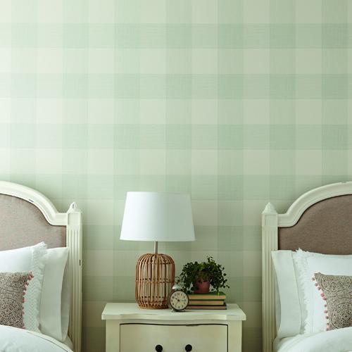 ME1521 York Wallcoverings Joanna Gaines Magnolia Home 2 Common Thread Wallpaper Room Setting