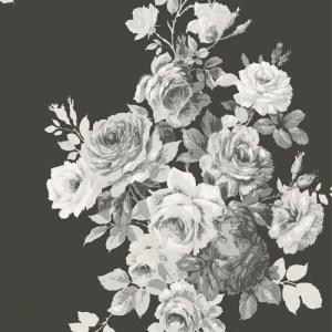 ME1533 York Wallcoverings Joanna Gaines Magnolia Home 2 Tea Rose Wallpaper Black