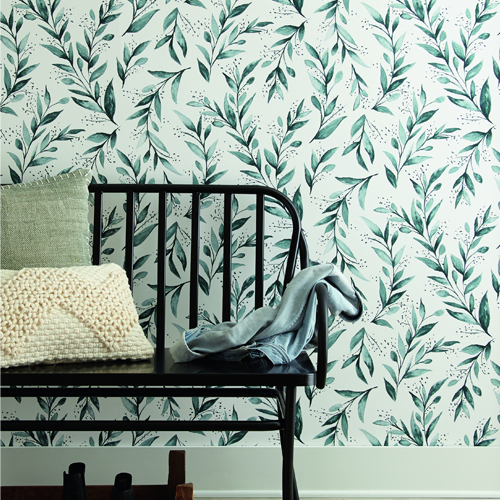 ME1536 York Wallcoverings Joanna Gaines Magnolia Home 2 Olive Branch Wallpaper Room Setting