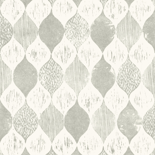 ME1564 York Wallcoverings Joanna Gaines Magnolia Home 2 Wood Block Print Wallpaper Gray