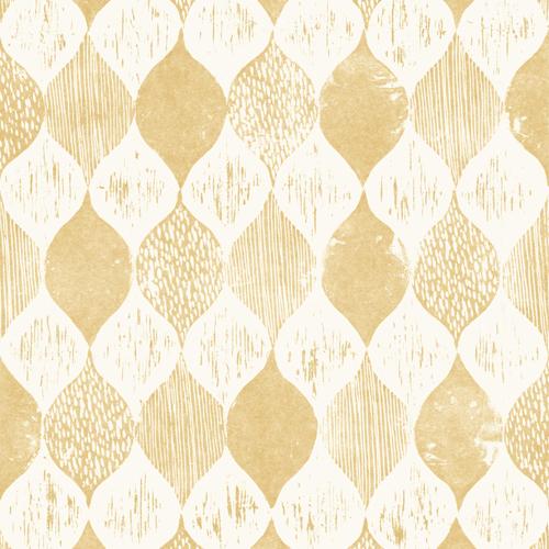ME1566 York Wallcoverings Joanna Gaines Magnolia Home 2 Wood Block Print Wallpaper Yellow