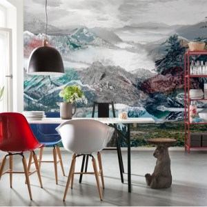 Brewster Wallcoverings Komar Into Illusions 2 Up and Down Mural Room Setting