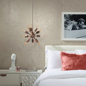 York Wallcoverings Mid Century A-Maze Wallpaper Room Setting