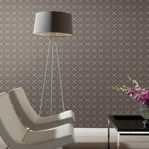 York Wallcoverings Mid Century Trellis A-Go-Go Wallpaper Room Setting