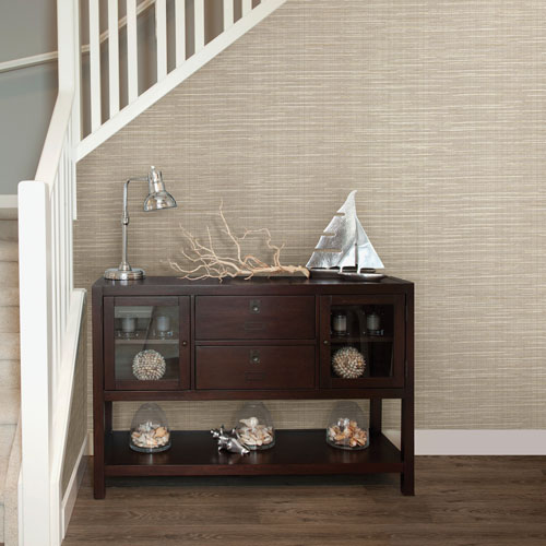 Bay Ridge Faux Grasscloth Wallpaper From Textures & Weaves