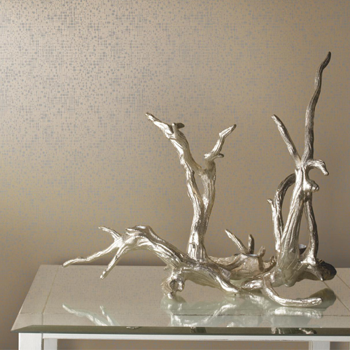 York Wallcovering Antonina Vella Modern Metals Interactive Wallpaper Room Setting