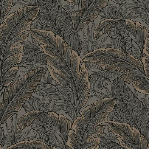 UK10048 Seabrook Wallcoverings Pear Tree Studios Mica Ruffled Palm Wallpaper Bronze