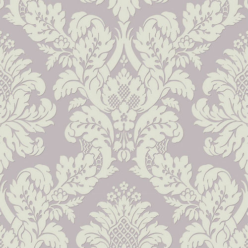 UK10481 Seabrook Wallcoverings Pear Tree Studios Mica Raised Glitter Damask Wallpaper Lavender