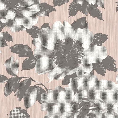 Half Tone Floral Wallpaper From Pear Tree Studios Mica