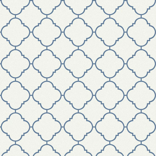 UK11302 Seabrook Wallcoverings Pear Tree Studio Mica Dotted Ogee Wallpaper Navy