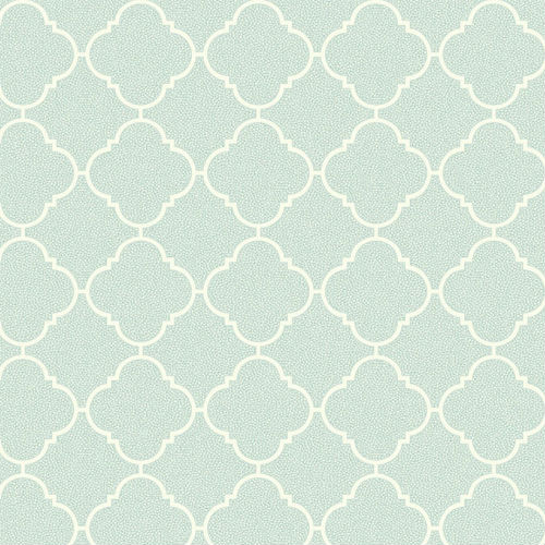 UK11314 Seabrook Wallcoverings Pear Tree Studio Mica Dotted Ogee Wallpaper Mint