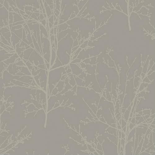 UK11508 Seabrook Wallcoverings Pear Tree Studios Mica Glass Bead Tree Wallpaper Grey