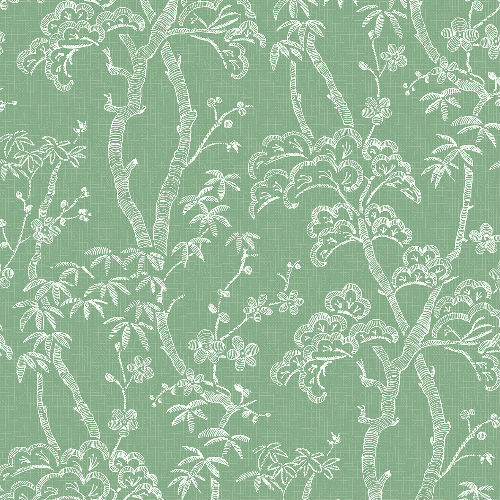 2764-24352 Brewster Wallcovering Mistral Bonsai Tree Wallpaper Green