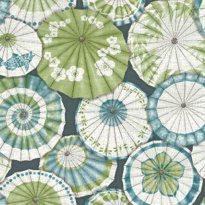 2764-24360 Brewster Wallcovering Mistral Mikado Parasol Wallpaper Teal