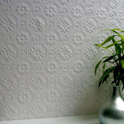 437-RD0151 Brewster Wallcovering Anaglypta Spencer Paintable Wallpaper
