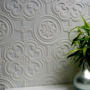 437-RD80029 Brewster Wallcovering Anaglypta XII Egon Paintable Wallpaper