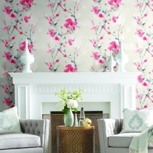 CP1200 York Wallcovering Candice Olson Breathless Charm Wallpaper Room Setting