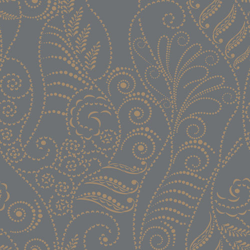 CP1269 York Wallcovering Candice Olson Breathless Modern Fern Wallpaper Charcoal