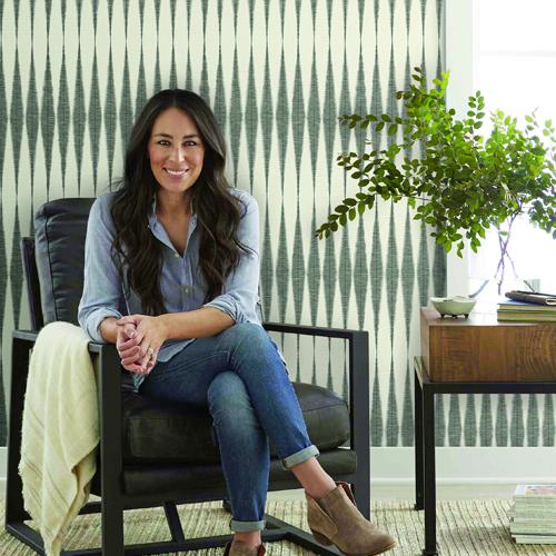 ME1540 York Wallcoverings Joanna Gaines Magnolia Home 2 Hand Loom Wallpaper Room Setting