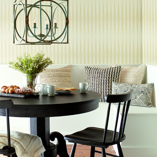 ME1543 York Wallcoverings Joanna Gaines Magnolia Home 2 Hand Loom Wallpaper Room Setting