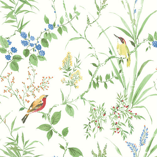 3117-24173 Brewster Wallcovering Chesapeake The Vineyard Imperial Garden Botanical Wallpaper Multicolor