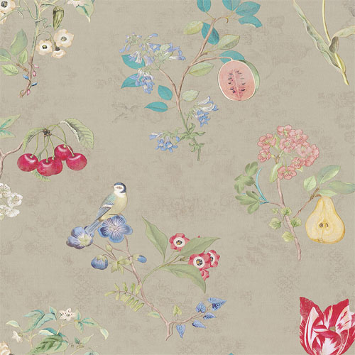 375021 Brewster Wallcovering Eijffinger Pip Studio Danique Garden Wallpaper Khaki