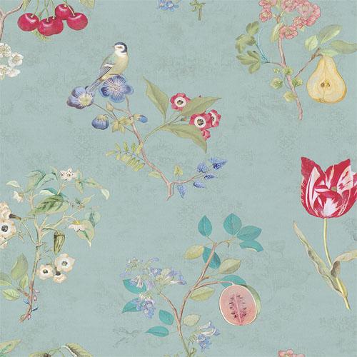 375022 Brewster Wallcovering Eijffinger Pip Studio Danique Garden Wallpaper Teal
