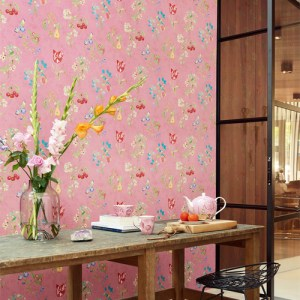 375023 Brewster Wallcovering Eijffinger Pip Studio Danique Garden Wallpaper Room Setting