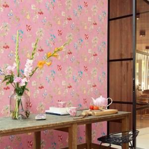 375023 Brewster Wallcovering Eijffinger Pip Studio Danique Garden Wallpaper Room Setting