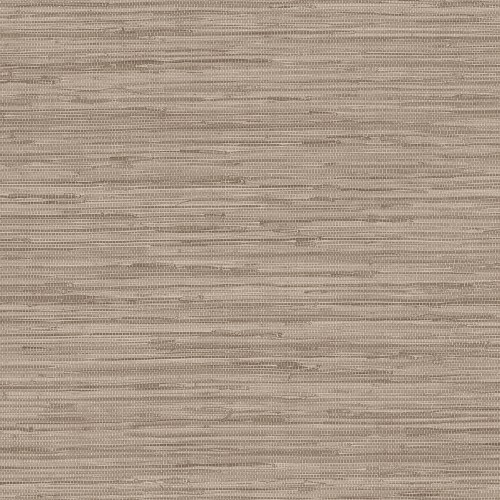 WF36303 Patton Wallcovering Wall Finishes Grasscloth Wallpaper Brown