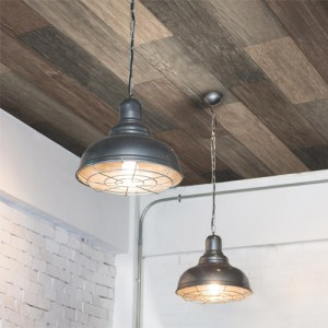 RMK10841WP York Wallcovering RoomMates Weathered Wood Peel and Stick Wallpaper Ceiling