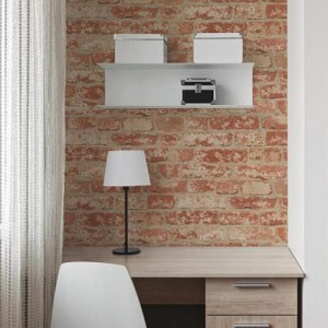 Stuccoed Brick Peel and Stick Wallpaper