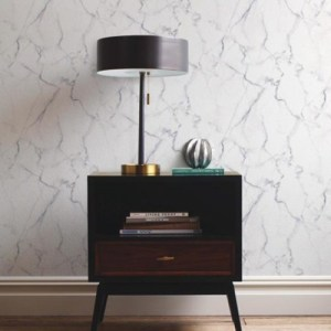 Carrara Marble Peel and Stick Wallpaper