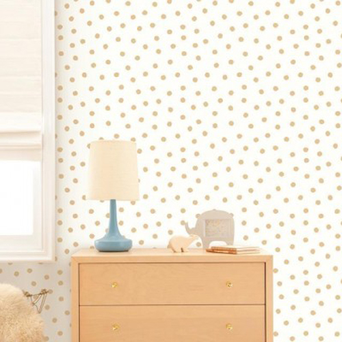 Gold Dot Peel and Stick Wallpaper