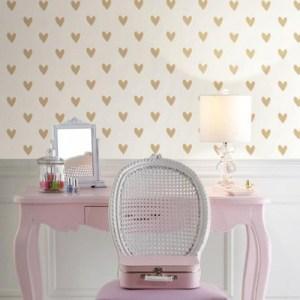 Heart Spot Peel and Stick Wallpaper