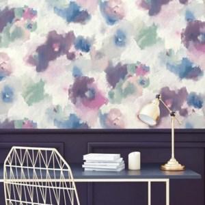 Impressionist Floral Peel and Stick Wallpaper