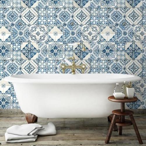 Mediterranean Tile Peel And Stick Wallpaper Single Roll