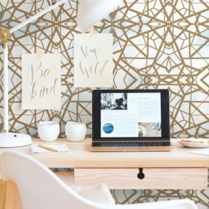 Shatter Geometric Peel and Stick Wallpaper