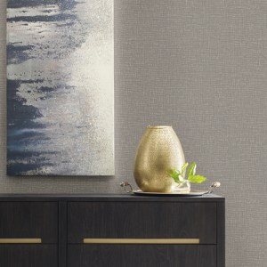 RRD7497 York Wallcovering Ronald Redding Industrial Interiors 2 Brattice Wallpaper Grey Room Setting